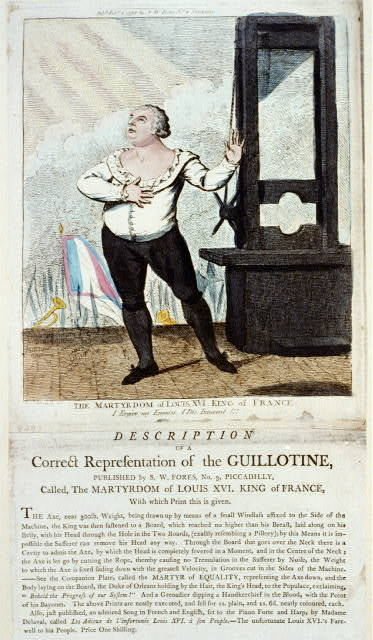 The martydom of Louis XVI, King of France - I forgive my enemies, I die innocent!!! / I. Cruikshank int.