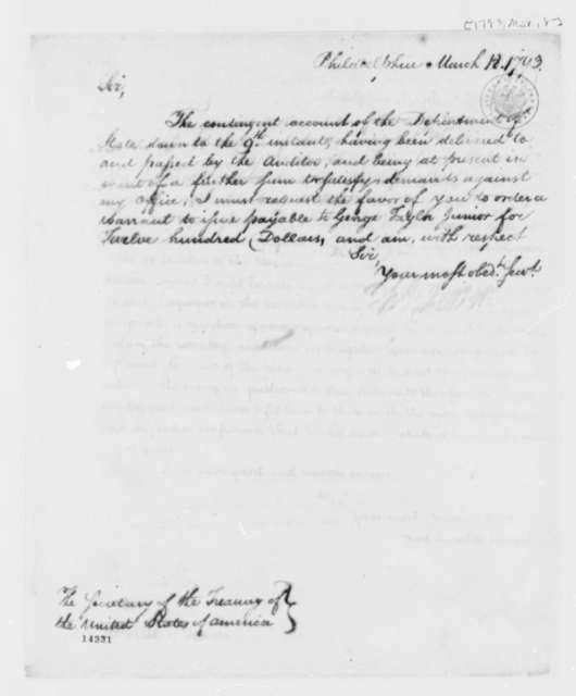 Thomas Jefferson to Alexander Hamilton, March 18, 1793