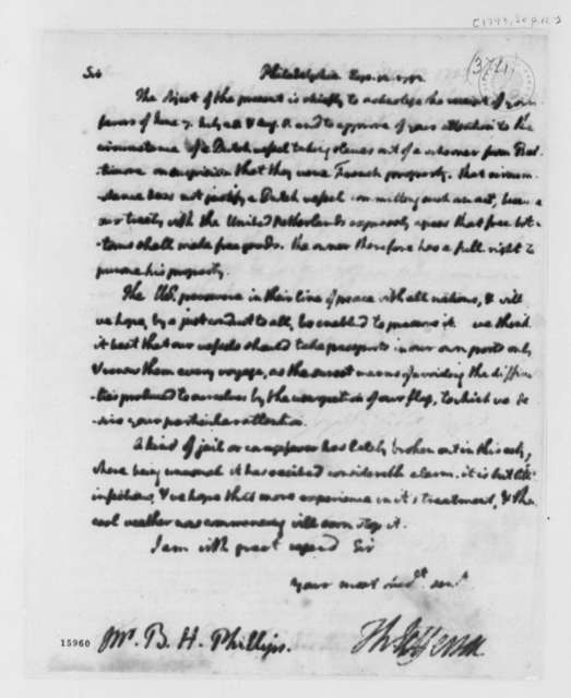 Thomas Jefferson to Benjamin H. Phillips, September 12, 1793