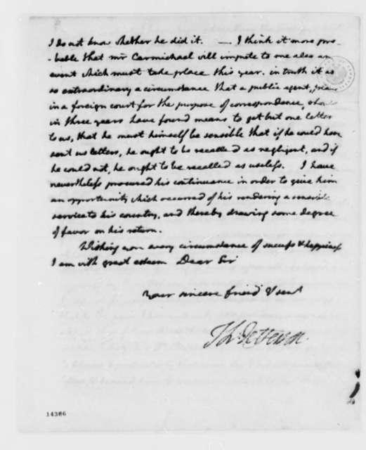 Thomas Jefferson to David Humphreys, March 22, 1793