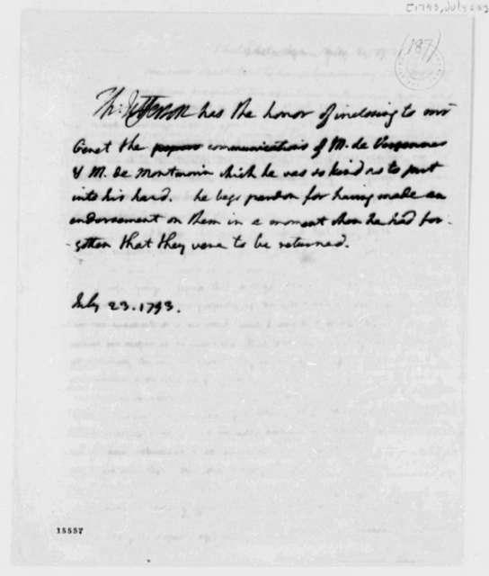 Thomas Jefferson to Edmond C. Genet, July 23, 1793