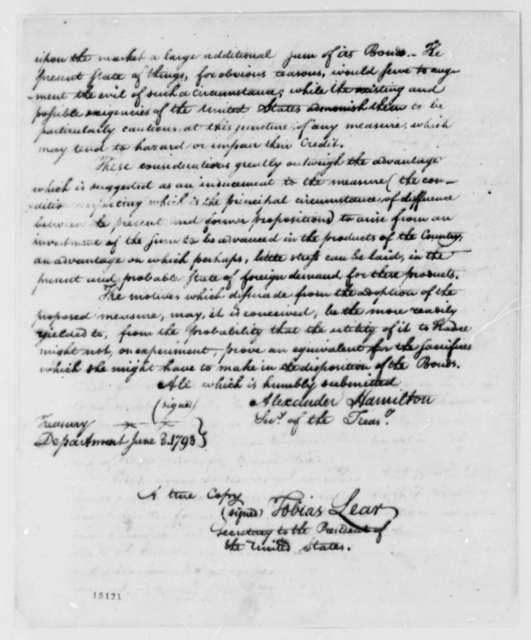 Thomas Jefferson to Edmond C. Genet, June 11, 1793, Payment of U.S. Debts to France