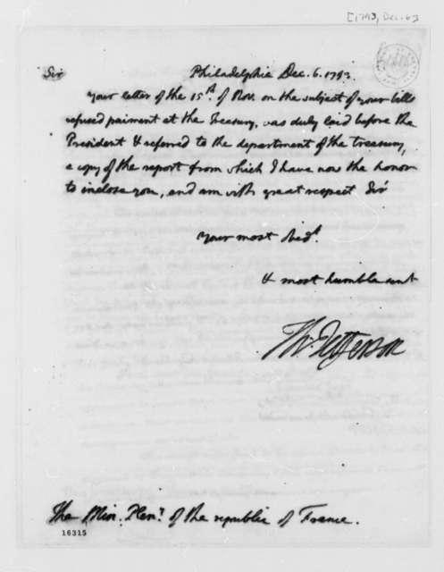 Thomas Jefferson to Edward Charles Genet, December 6, 1793
