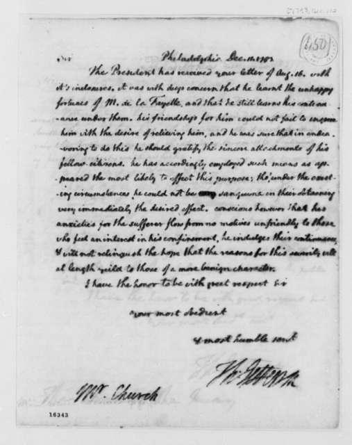 Thomas Jefferson to Edward Church, December 11, 1793