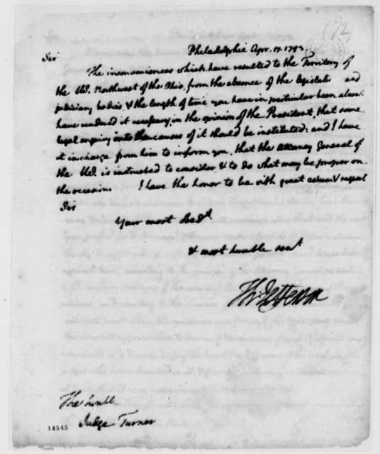 Thomas Jefferson to George Turner, April 17, 1793