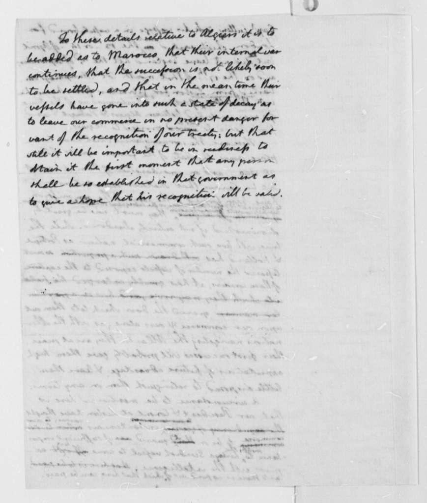 Thomas Jefferson to George Washington, December 18, 1793, Report