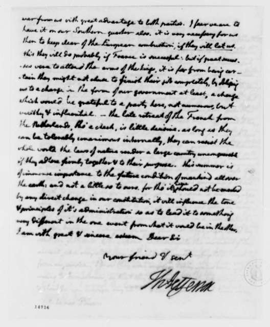 Thomas Jefferson to Harry Innes, May 23, 1793, with Copies