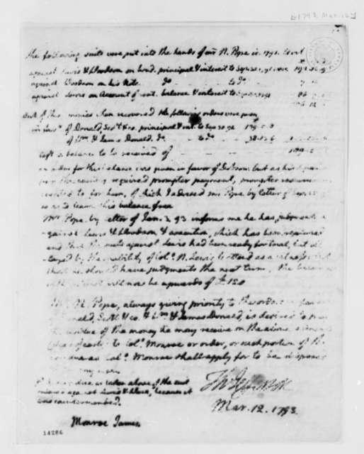Thomas Jefferson to James Monroe, March 12, 1793