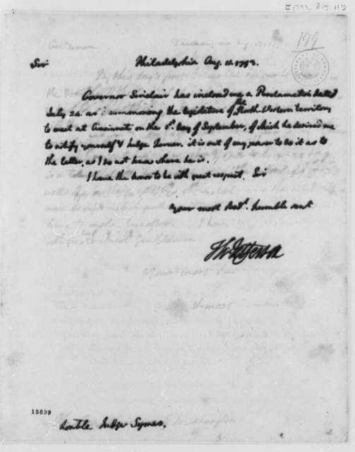 Thomas Jefferson to John Cleves Symmes, August 11, 1793