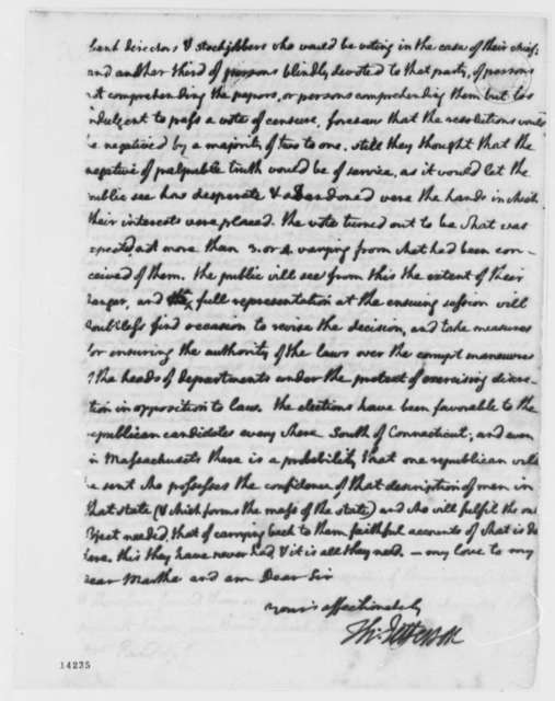 Thomas Jefferson to Thomas Mann Randolph, Jr., March 3, 1793, with Copy