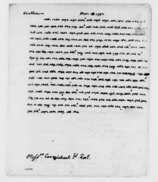 Thomas Jefferson to William Carmichael and William Short, March 23, 1793, in Cypher