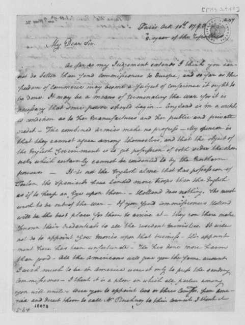 Thomas Paine to Thomas Jefferson, October 10, 1793
