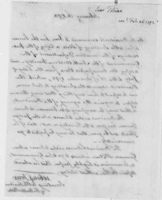 Tobias Lear to Thomas Jefferson, February 26, 1793