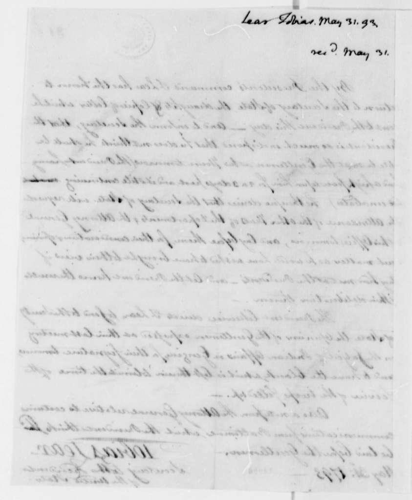 Tobias Lear to Thomas Jefferson, May 31, 1793