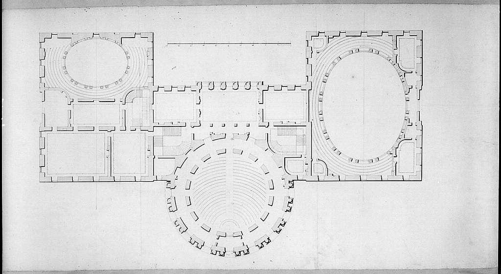 "United States Capitol (""Federal Capitol""), Washington, D.C. Floor plan"