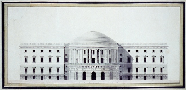 """[United States Capitol (""""Federal Capitol""""), Washington, D.C. Front elevation rendering]"""