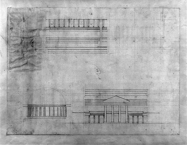 """[United States Capitol (""""Federal Capitol""""), Washington, D.C. Preliminary elevations]"""