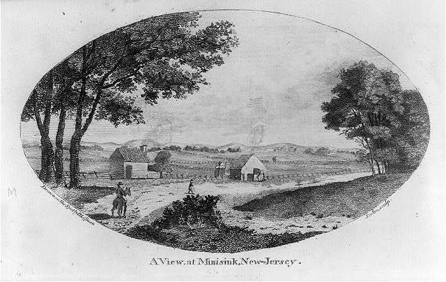 A view, at Minisink, New-Jersey / drawn on the spot by I. Hoffman ; Scoles sculp.