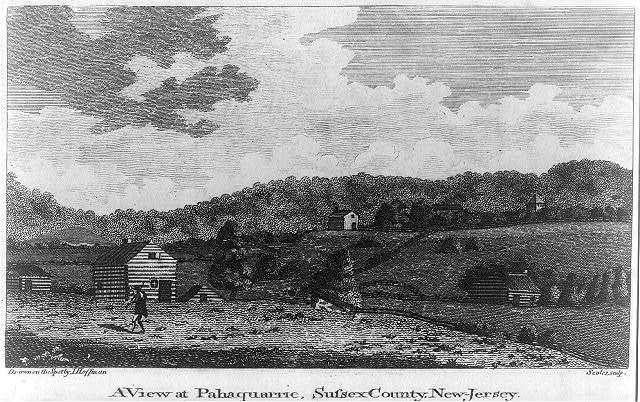 A view at Pahaquarric, Sussex County, New Jersey / drawn on the spot by I. Hoffman ; Scoles sc.