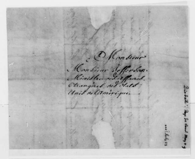Count Diodati to Thomas Jefferson, March 17, 1794, in French