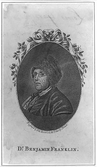 Dr. Benjamin Franklin / engrav'd by P.R. Maverick, 65 Liberty Street.