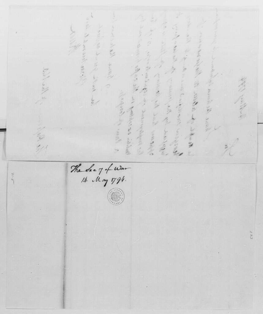 George Washington Papers, Series 4, General Correspondence: Henry Knox to George Washington, May 14, 1794