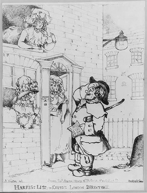 Harris's list; or, Cupid's London directory / R. Newton del. ; etch'd by R. Newton.