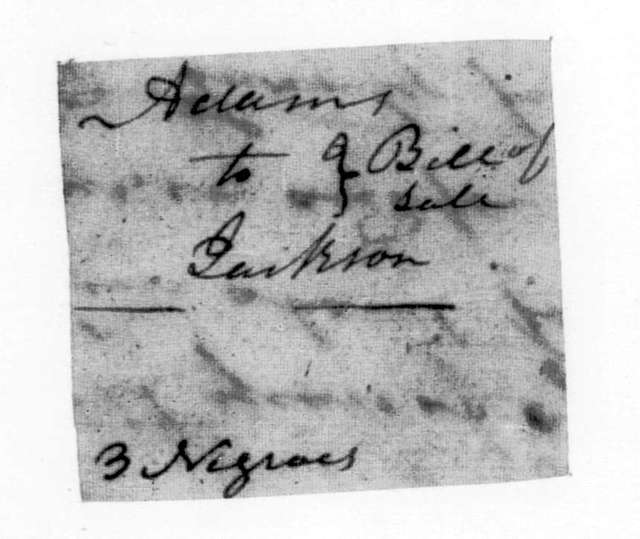James Adams to Andrew Jackson, September 14, 1794
