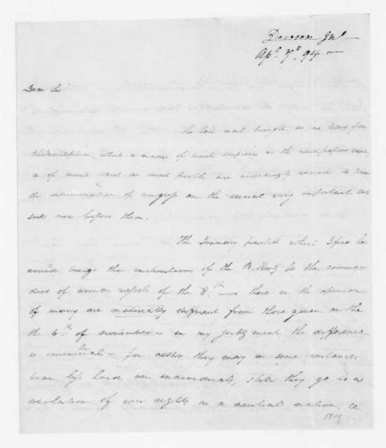 John Dawson to James Madison, April 7, 1794.