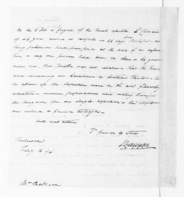 John Dawson to James Madison, February 12, 1794.