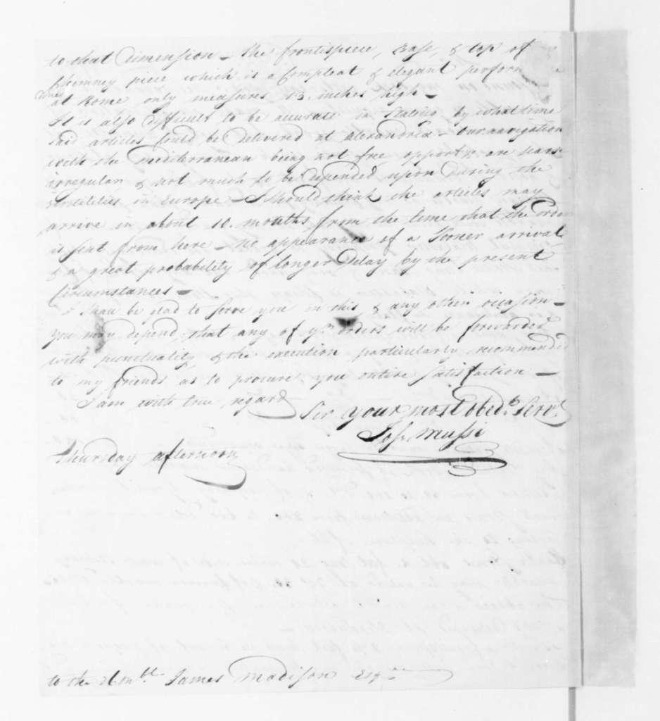 Joseph Mussi to James Madison, December, 1797.