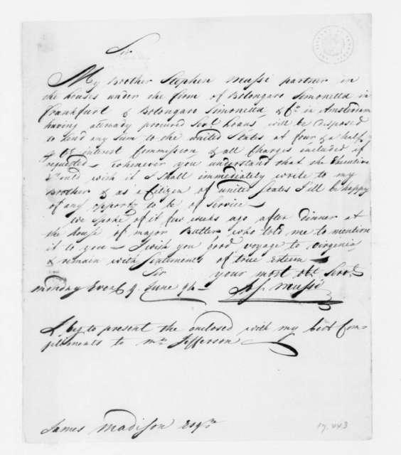 Joseph Mussi to James Madison, June 9, 1794.
