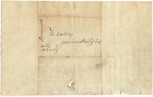 Letter from Alexander Dromgoole to Isaac Shelby
