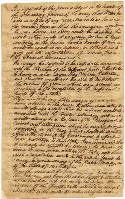 Letter from Isaac Shelby to Henry Knox