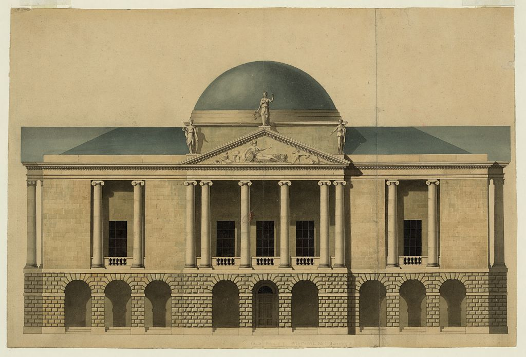 [New County Hall, Stafford, England. Proposed façade. Elevation]