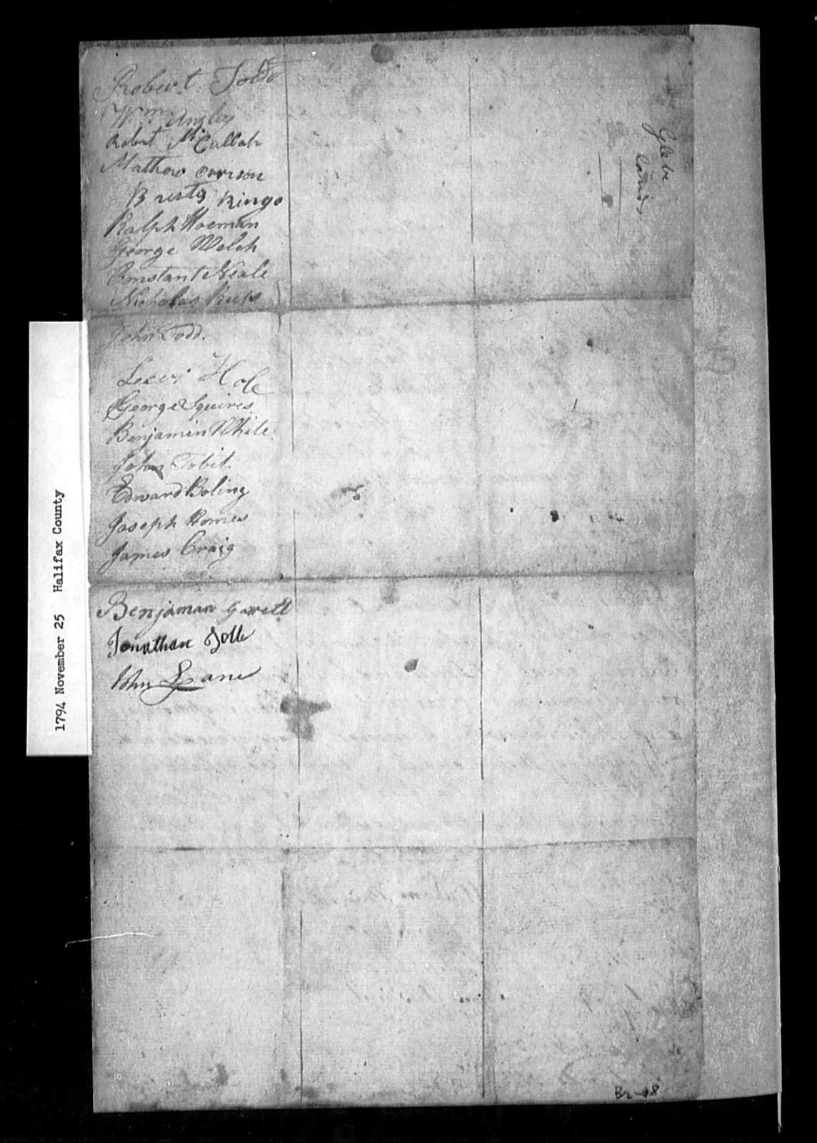 November 25, 1794, Halifax, For sale of glebes.