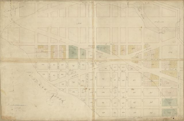 [Partial cadastral map of the area immediately south of the Mall, S.W. Washington D.C.].
