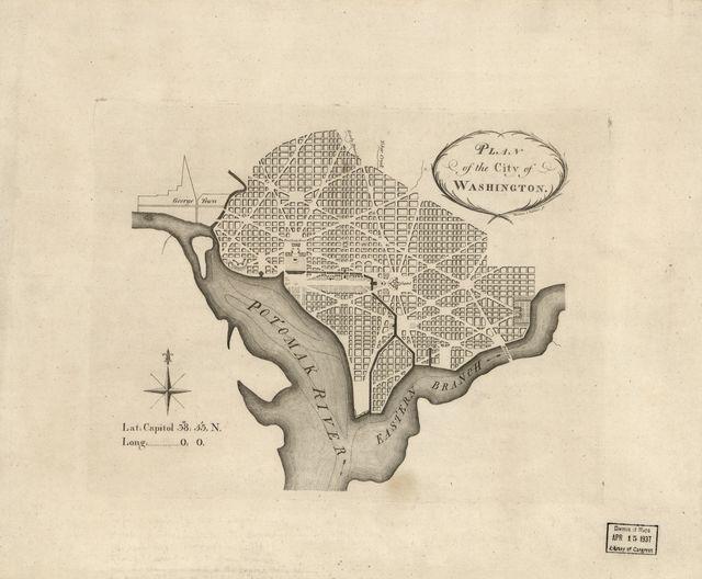 Plan of the city of Washington /