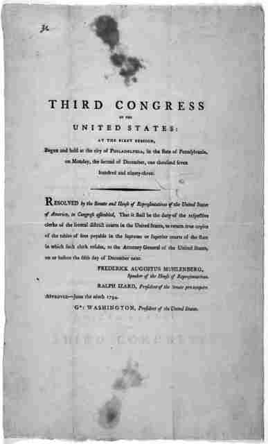 ... Resolved by the Senate and House of representatives of the United States of America in Congress assembled, That it shall be the duty of the respective clerks of the several district courts in the United States, to return true copies of the t
