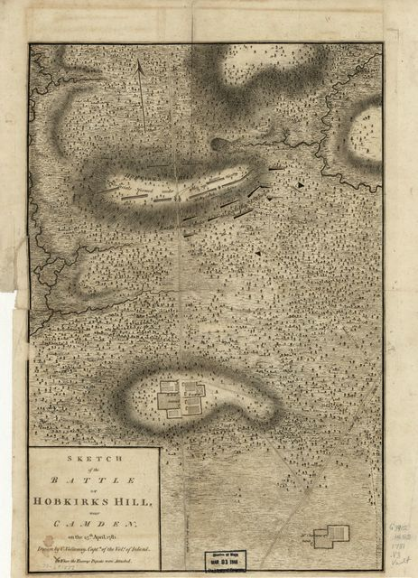 Sketch of the Battle of Hobkirks Hill, near Camden, on the 25th April, 1781.