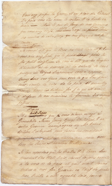 Statement from Anthony Wayne to Native American chiefs and warriors