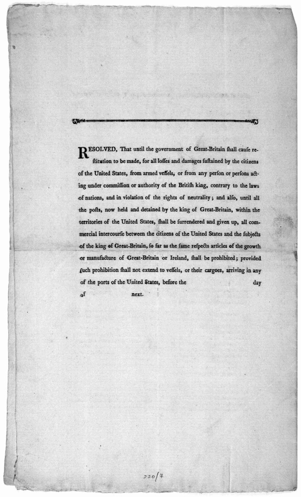 The Committee to whom was referred the memorial of the representatives of the people south of the Ohio, report ... [April 10, 1794. [Philadelphia: Printed by Childs and Swaine, 1794].