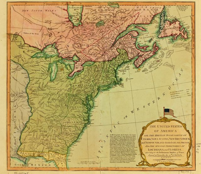 The United States of America, with the British possessions of Canada, Nova Scotia, New Brunswick and Newfoundland ...