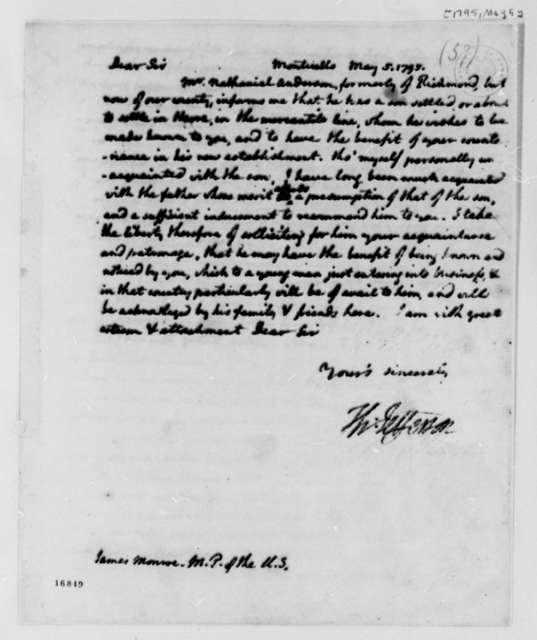 Thomas Jefferson to James Monroe, May 5, 1794