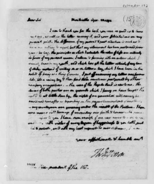 Thomas Jefferson to John Adams, April 25, 1794