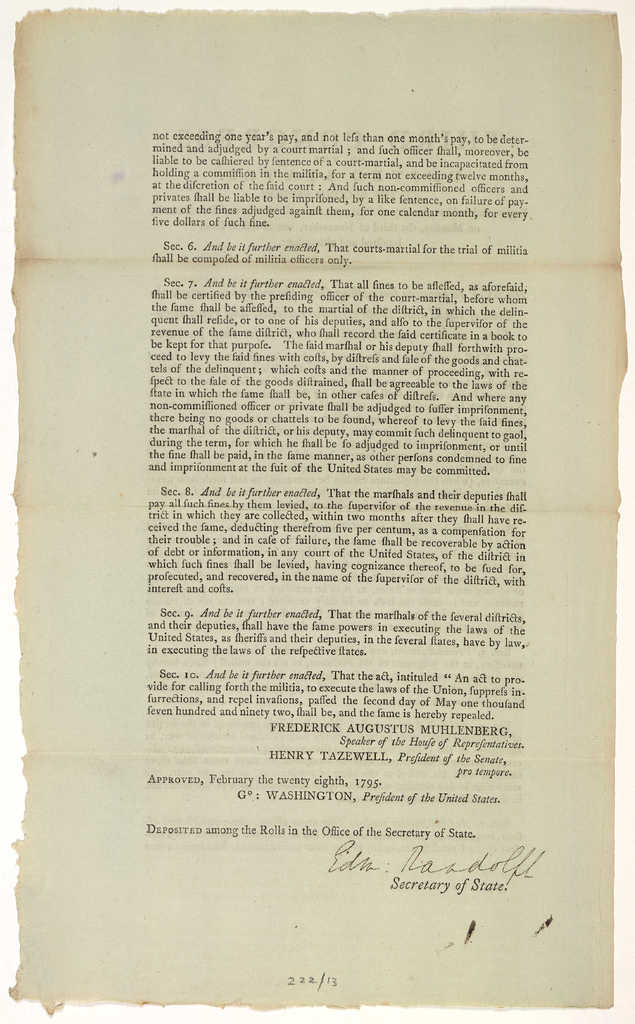 An act to provide for calling forth the militia to execute the laws of the Union, suppress insurrections, and repel invasions and to repeal the act now in force for those purposes.