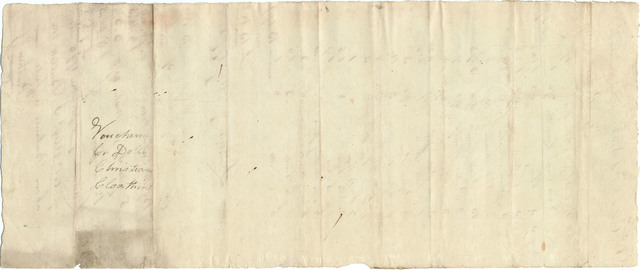Bill from Prathers and Smiley to the estate of William Christian with receipt