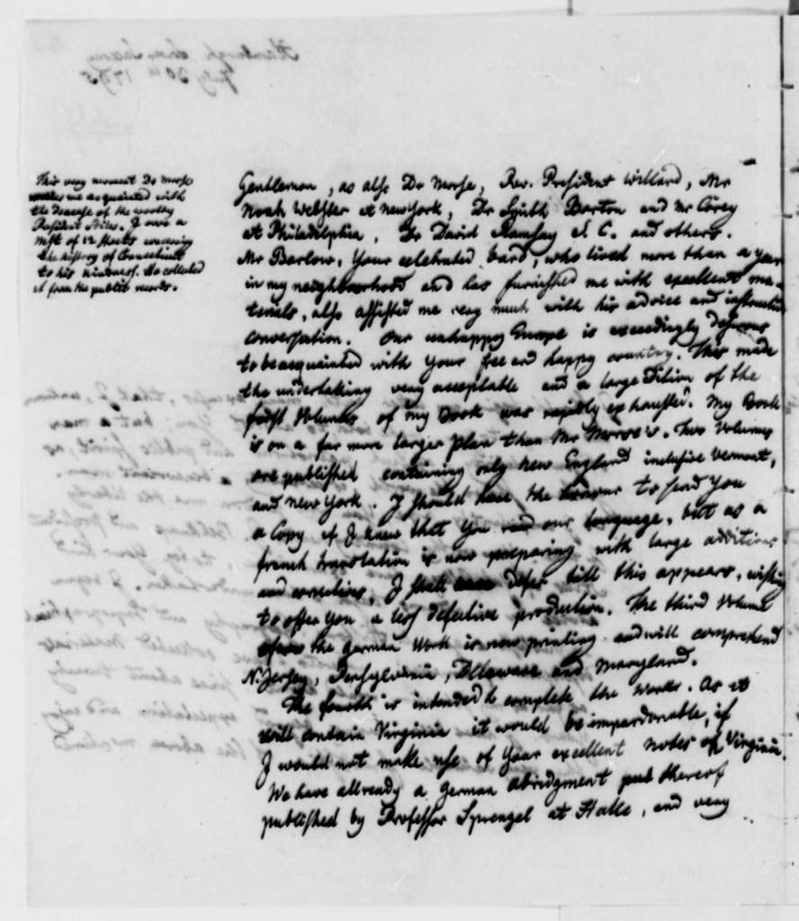 Christoph Daniel Ebeling to Thomas Jefferson, July 30, 1795
