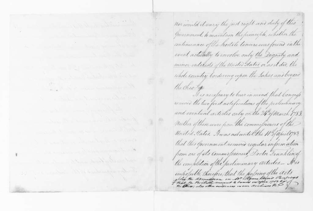 Concerning G.B. debits, August, 1795. & Notes-British Debts.