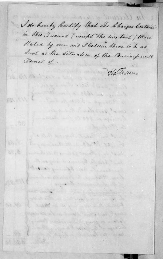 David Allison to Andrew Jackson